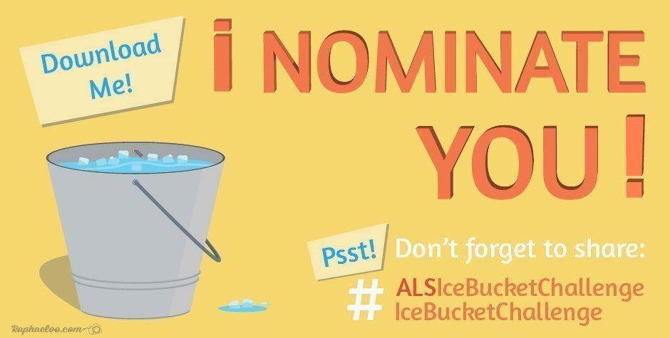 #IceBucketChallenge ALS I Nominate You Vector Image