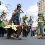 Hebden Bridge Handmade Parade 2015 - Family & Dog