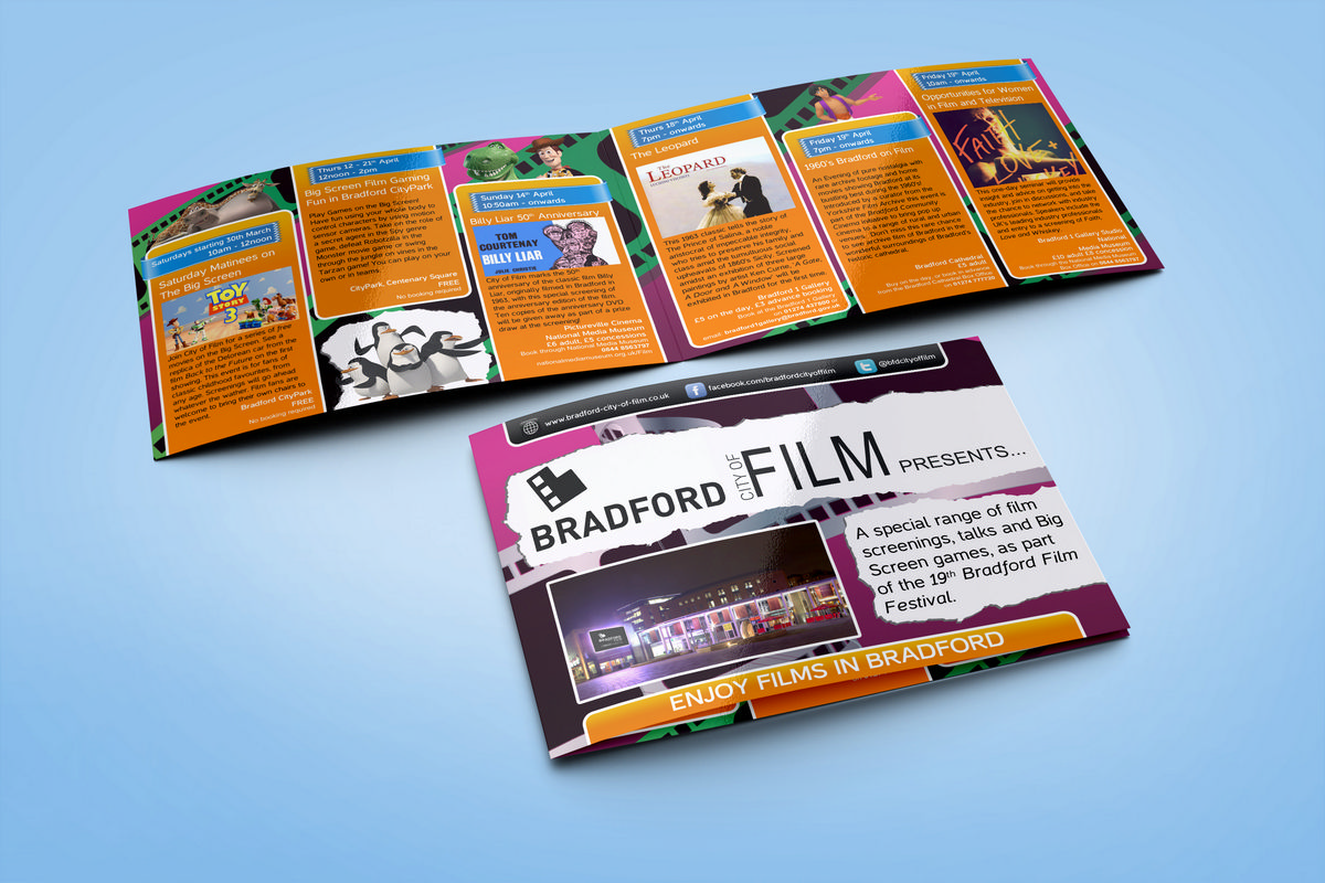Bradford City of Film - Brochure Design Cover & Interior