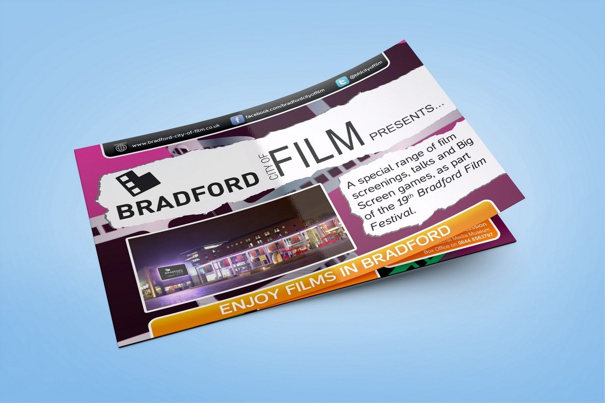 Bradford City of Film - Brochure Design Front