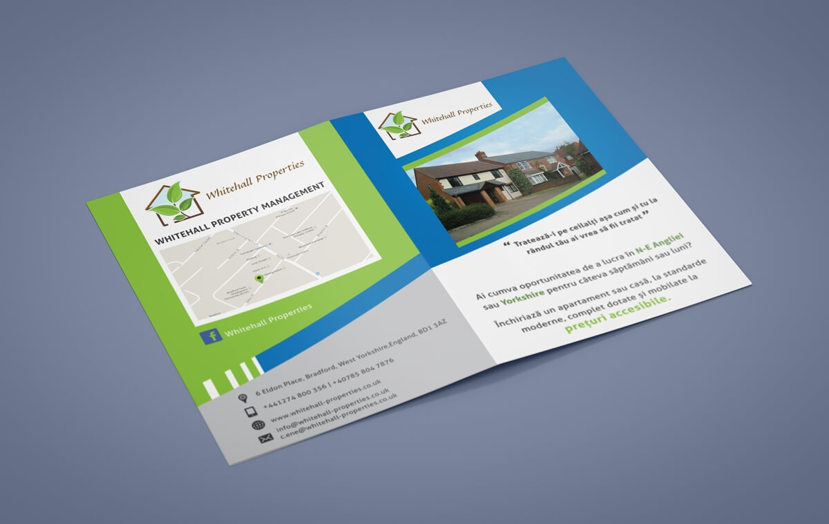 Whitehall Properties - Brochure Front & Back Single