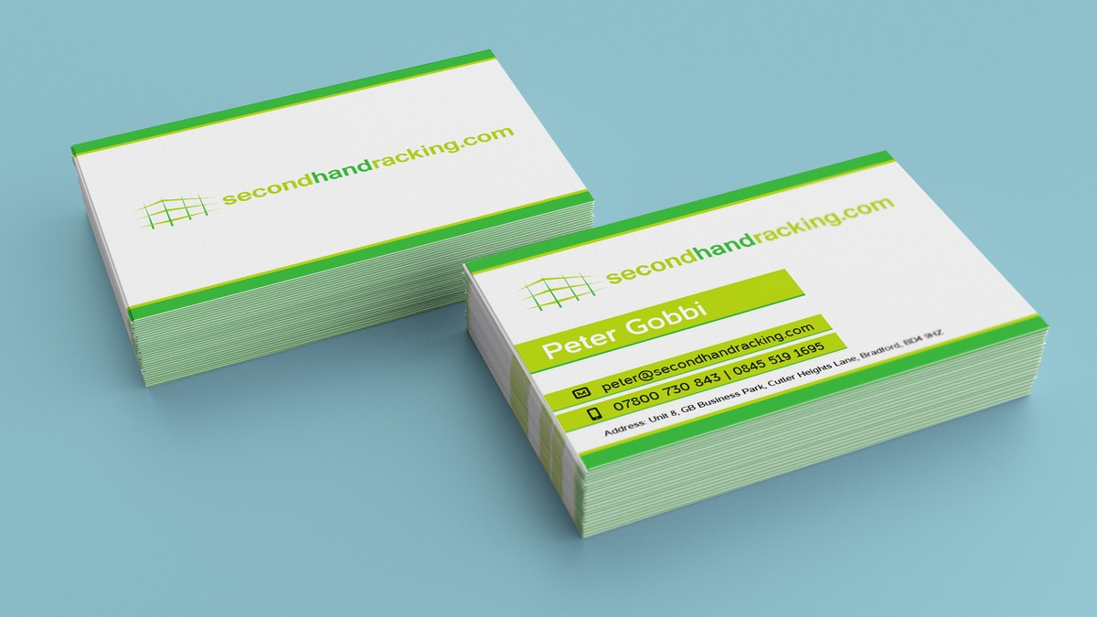 Second Hand Racking - Business cards