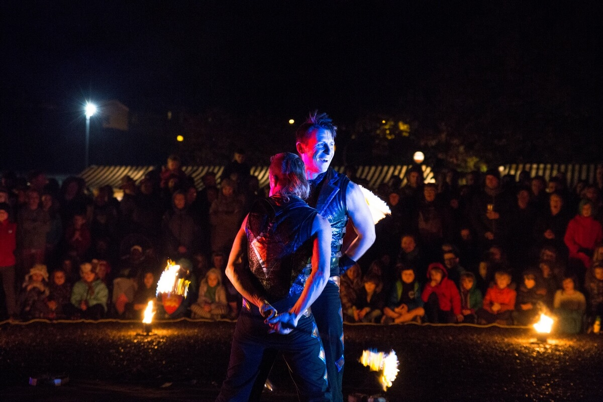 Mytholmroyd Arts Festival 2016 - FlameOz Fire Show