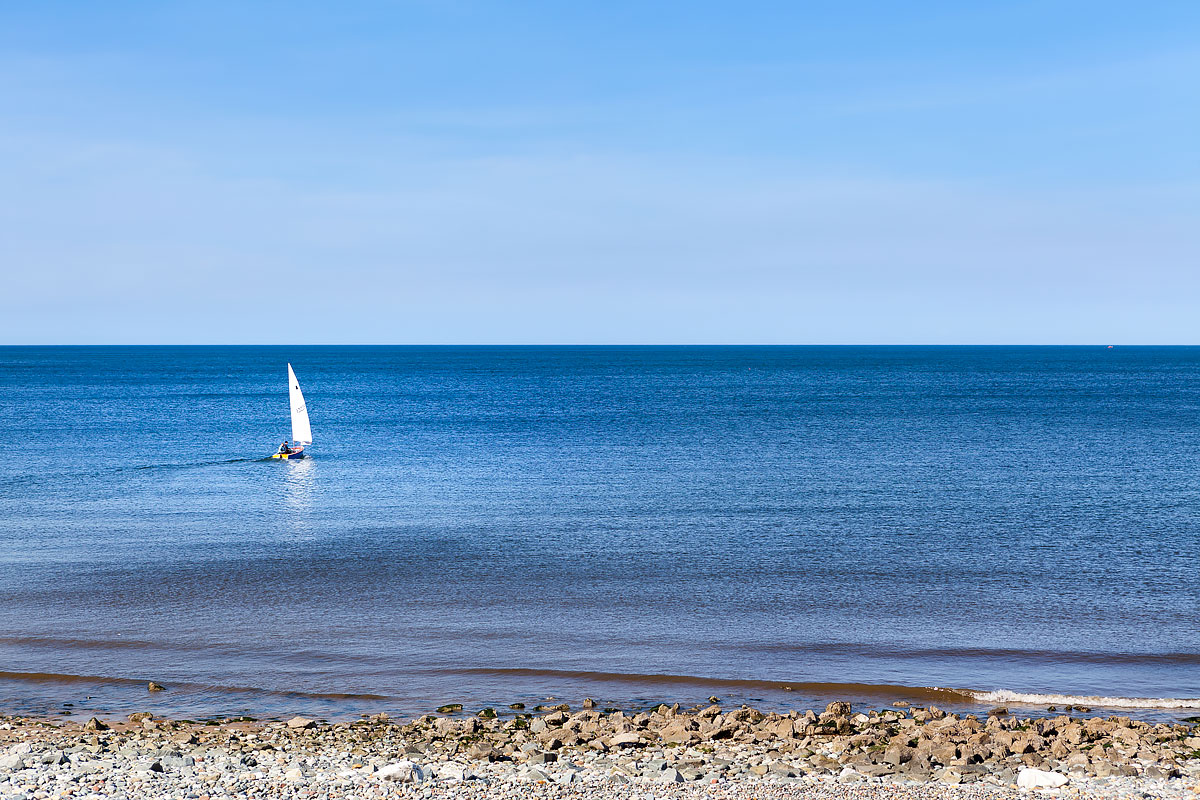 Beach and boat in Wales