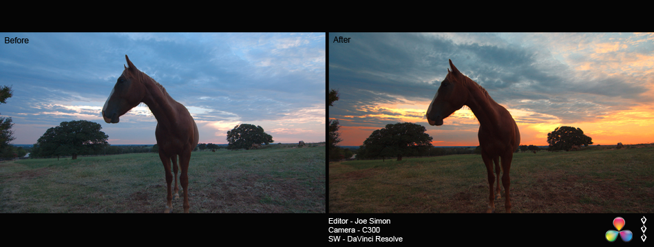 Before and After Color Correction