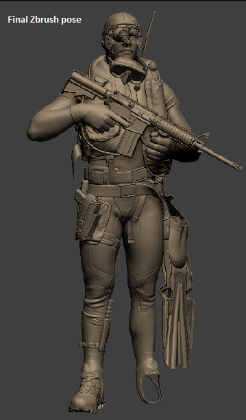 Diver Zbrush Pose
