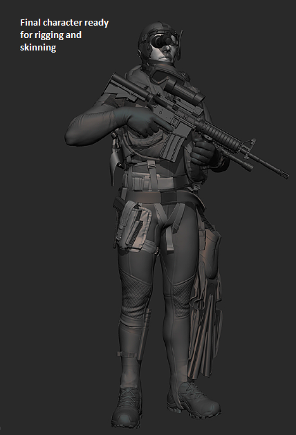 Final Character ready for rigging